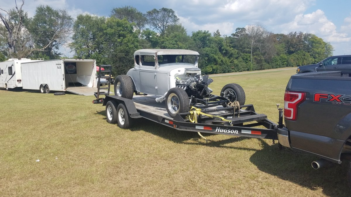 coupe on trailer.jpg