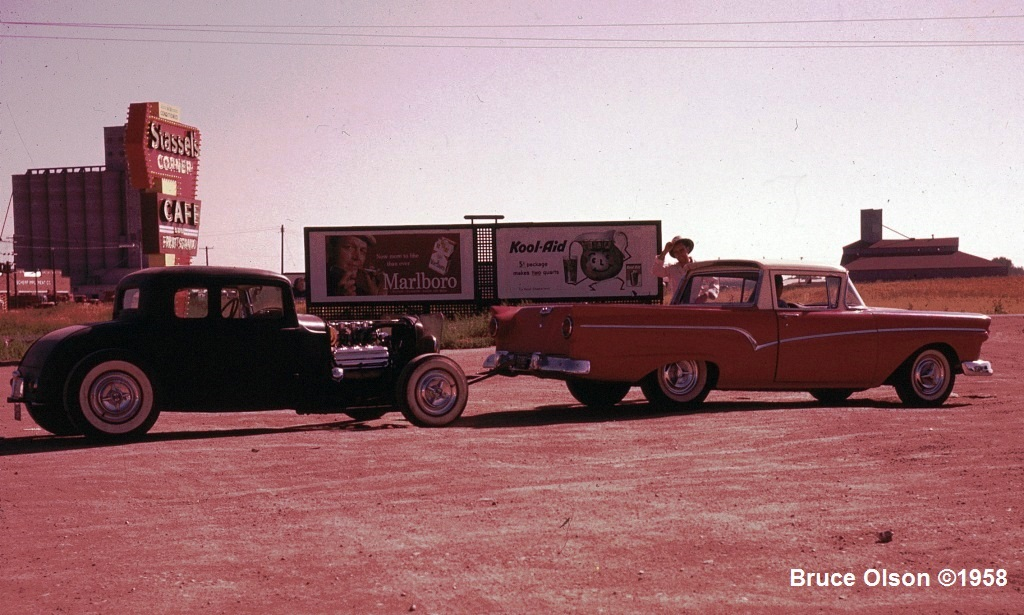 Coupe towed to 1958 Nats OK City.jpg