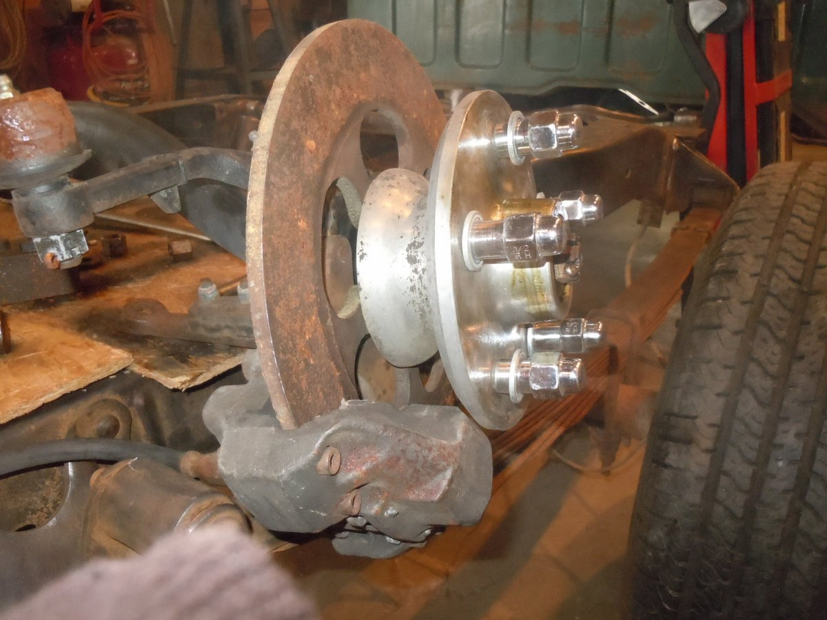 Custom Willys Hub with Volkswagon Disc Brakes.jpg