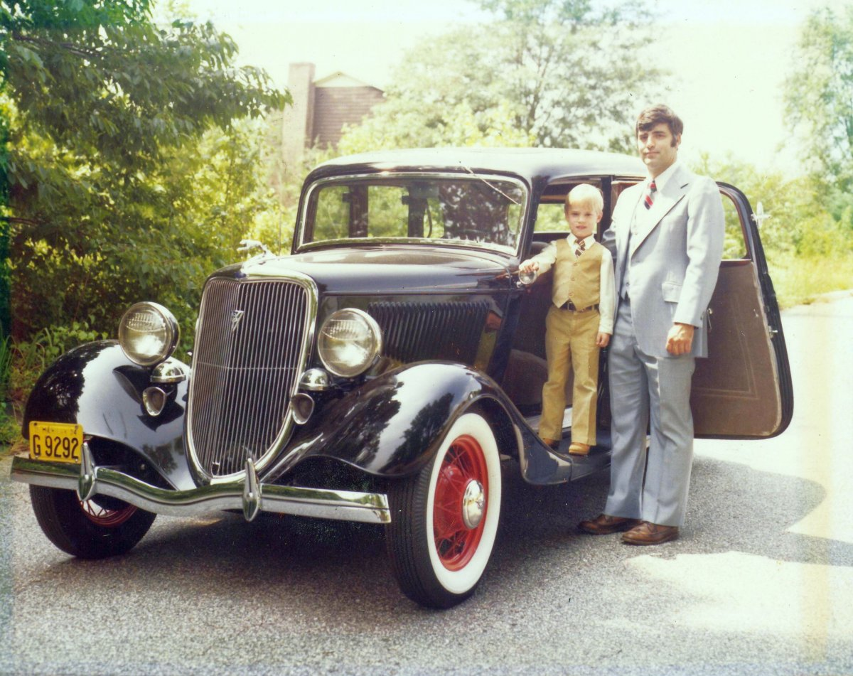 Dad, Jim, 34 Ford, 1979.JPG