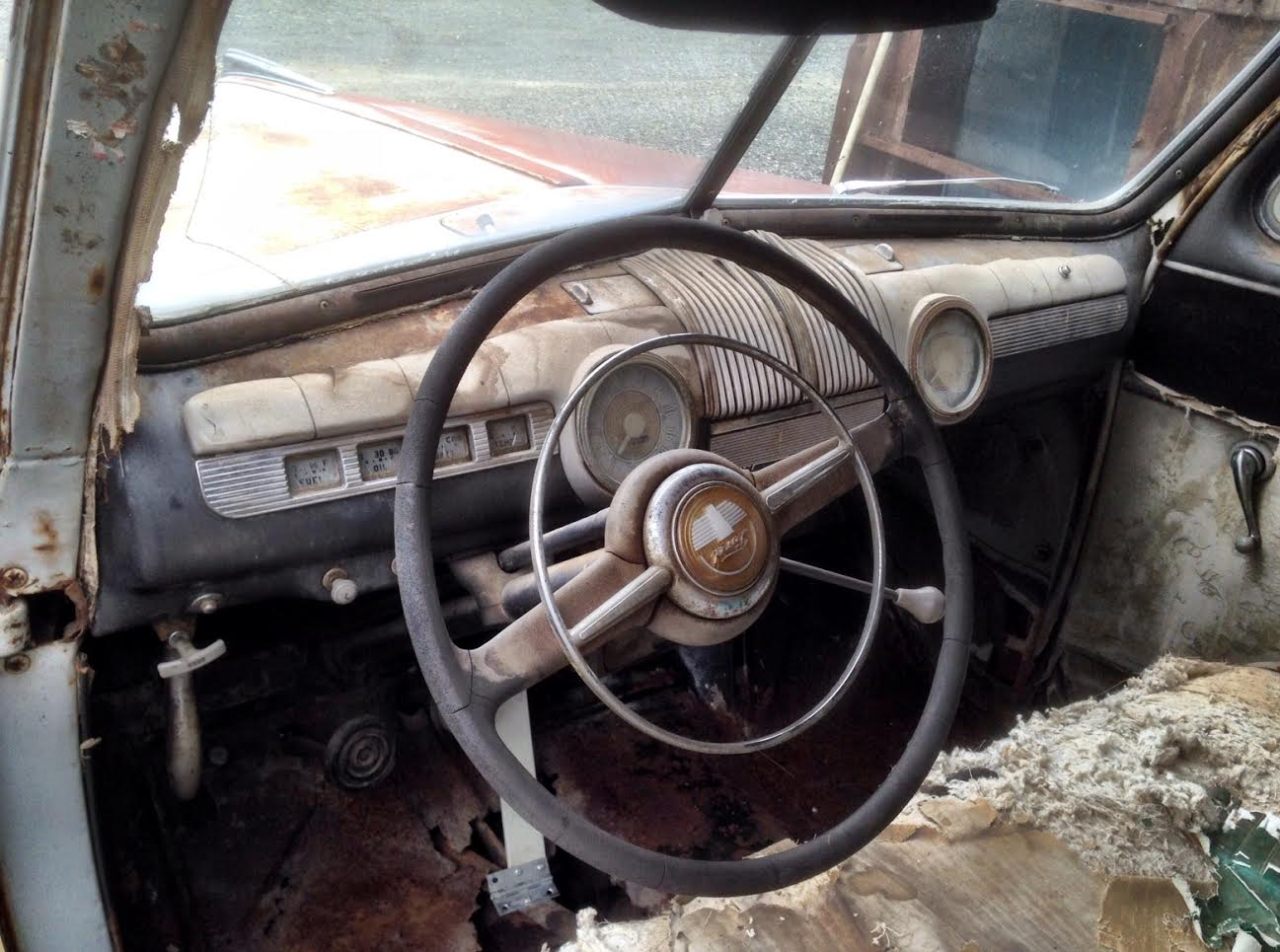 1947 ford tudor sedan project the h a m b 1947 Ford Super Deluxe Coupe dash crust