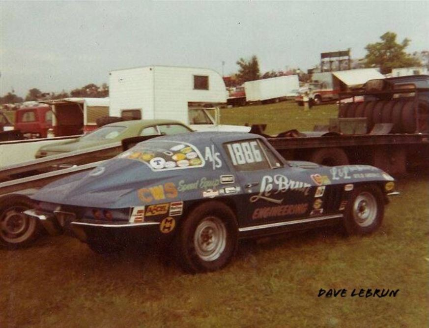 Dave LeBrun Engineering and stock and vette.JPG