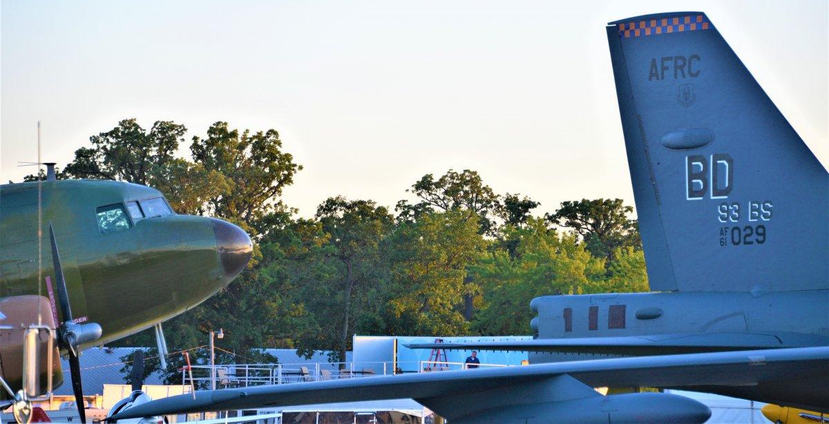 DC-3 and B-52 at Oshkosh.JPG