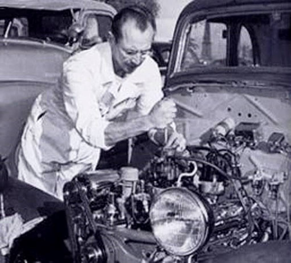 Dean at work on his '34 Ford Coupe.jpg
