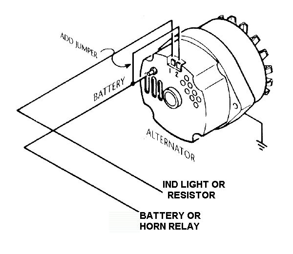 1 Wire Alternator on basic chevy alternator wiring diagram