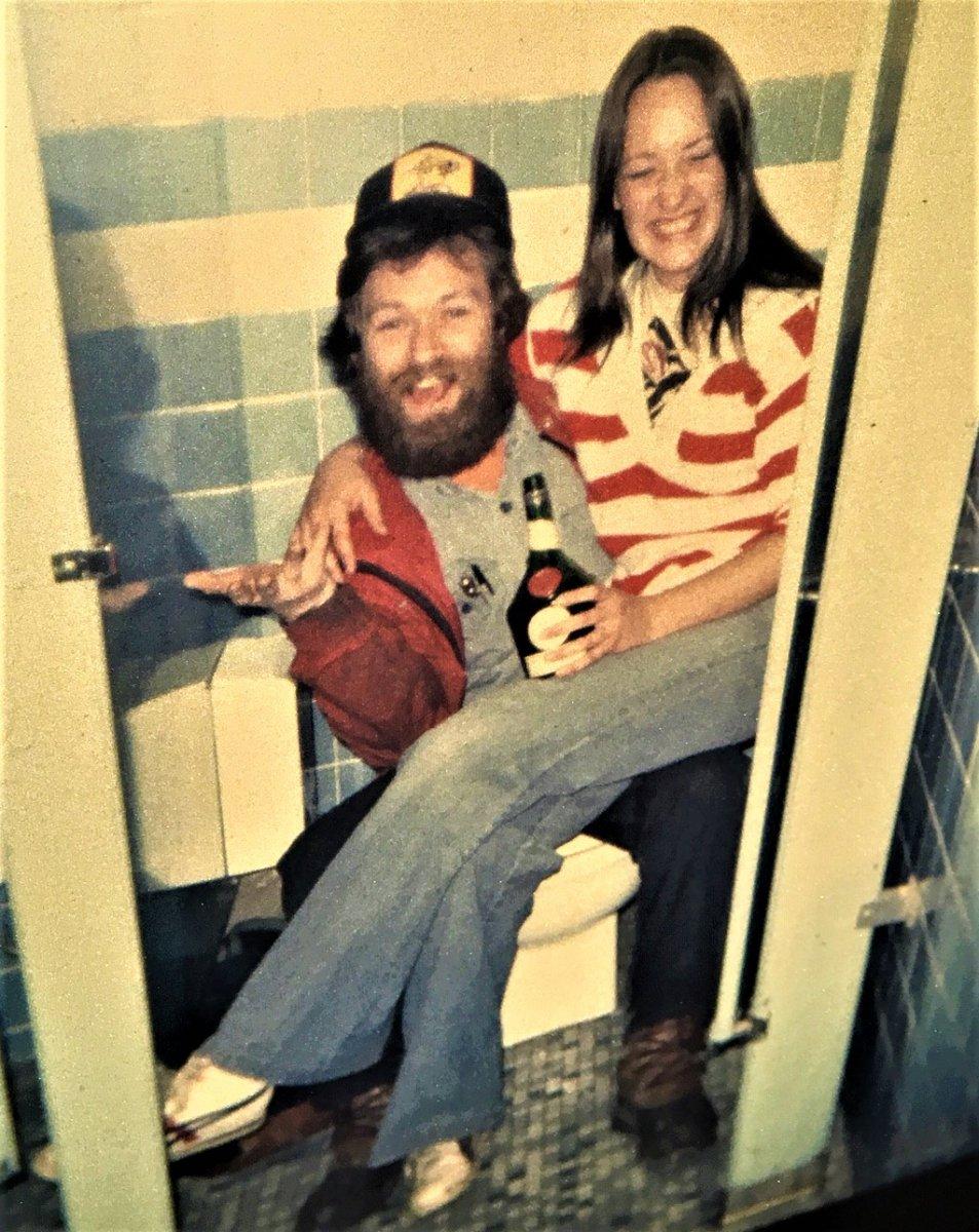 dennis and nancy in the womens bathroom dutch harbor.JPG