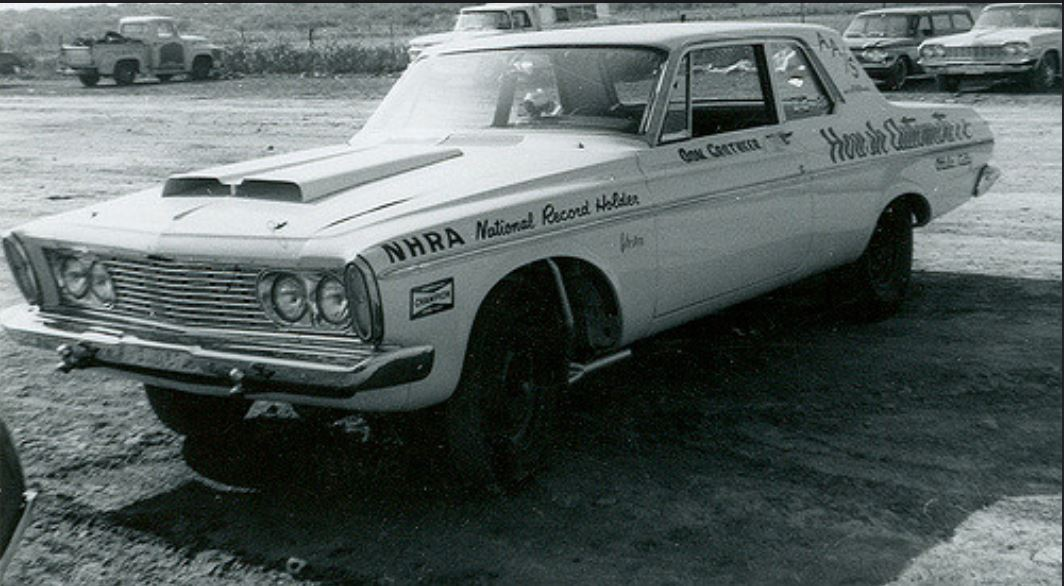 Don Grotheer's AA Stock 426 Wedge powered 1963 Plymouth note mising wipers.JPG