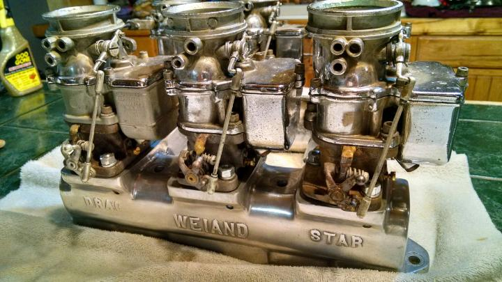 WEIAND 6x2 DRAGSTAR BUICK NAILHEAD 364 401 425 POLISHED AND
