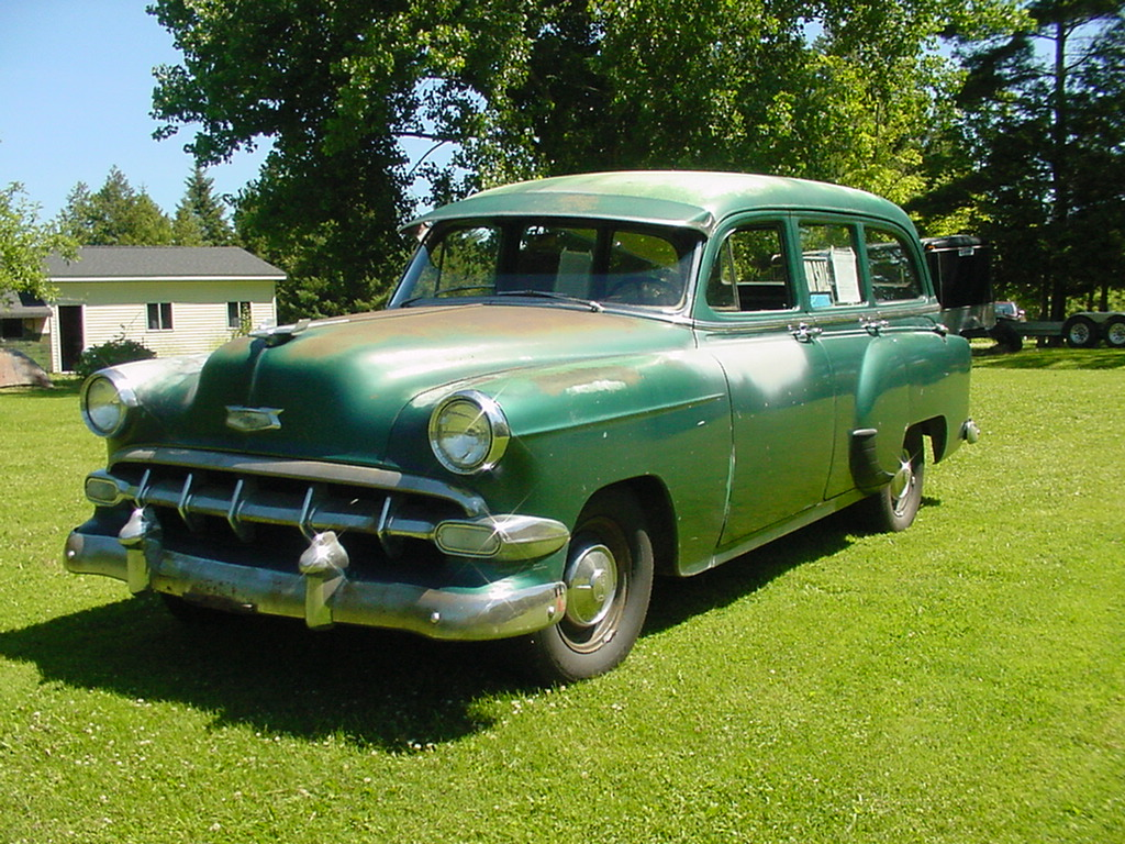 1954 CHEVROLET 53 CHEVY 54 STATION WAGON MODEL 150 4 DOOR