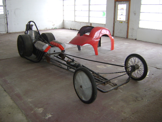 vintage rail frame dragster project with Fiat body | The
