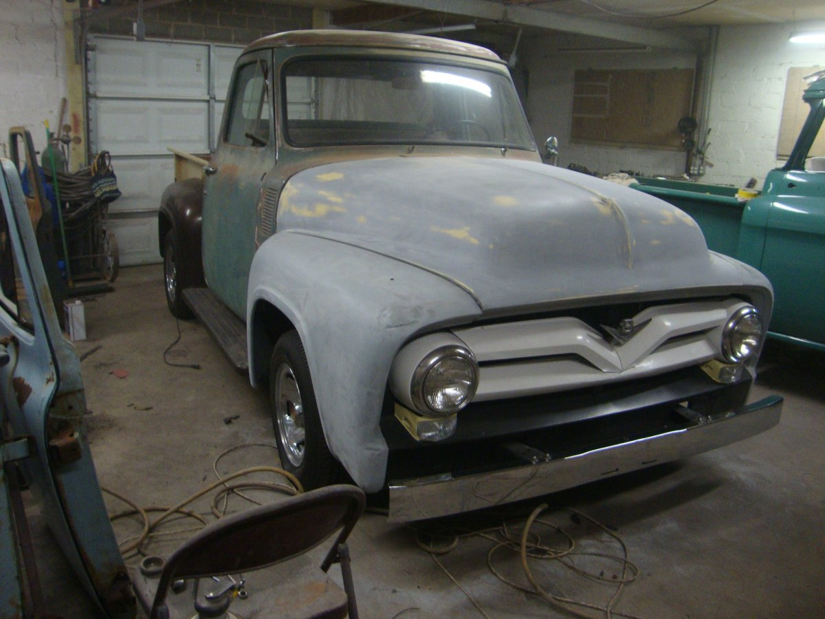 1955 Ford F100 Bed Installation