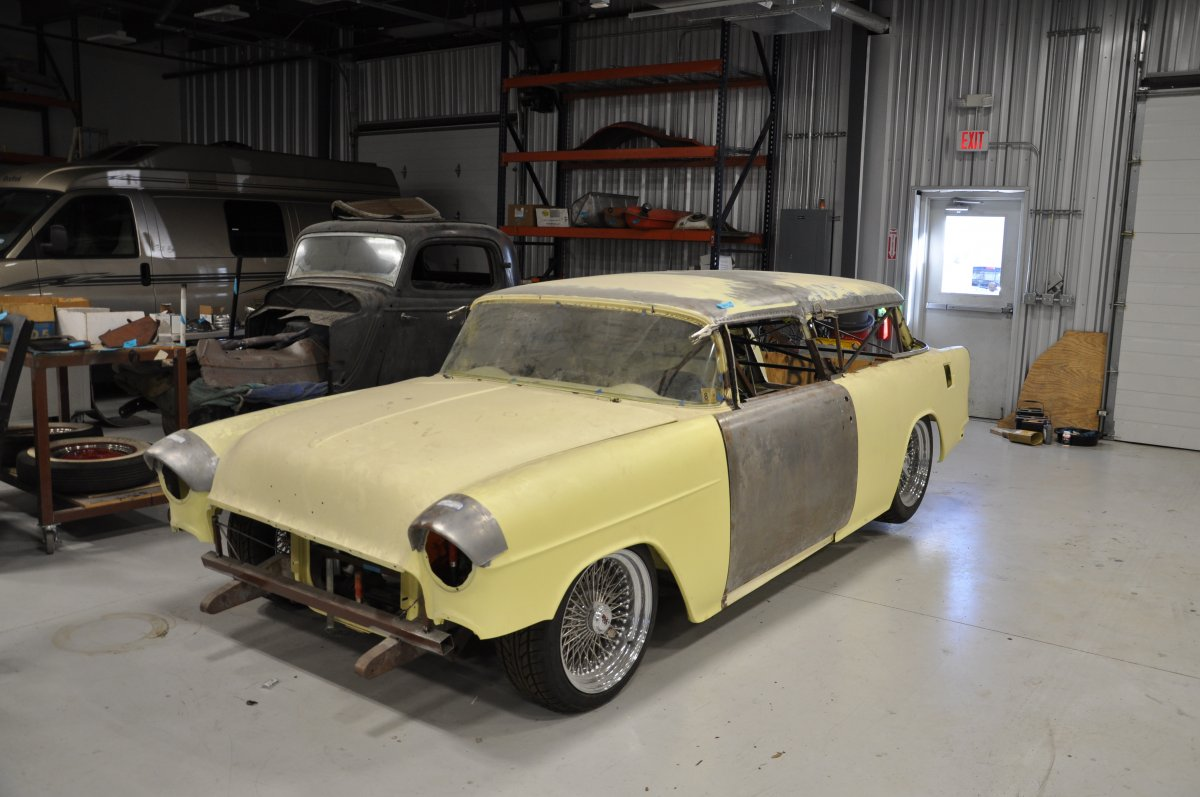 1955 Chevrolet Nomad Unrestored Project Car For Sale: SOLD!!! 1955 Chevy Nomad Project. RS Chassis. Dayton Wires
