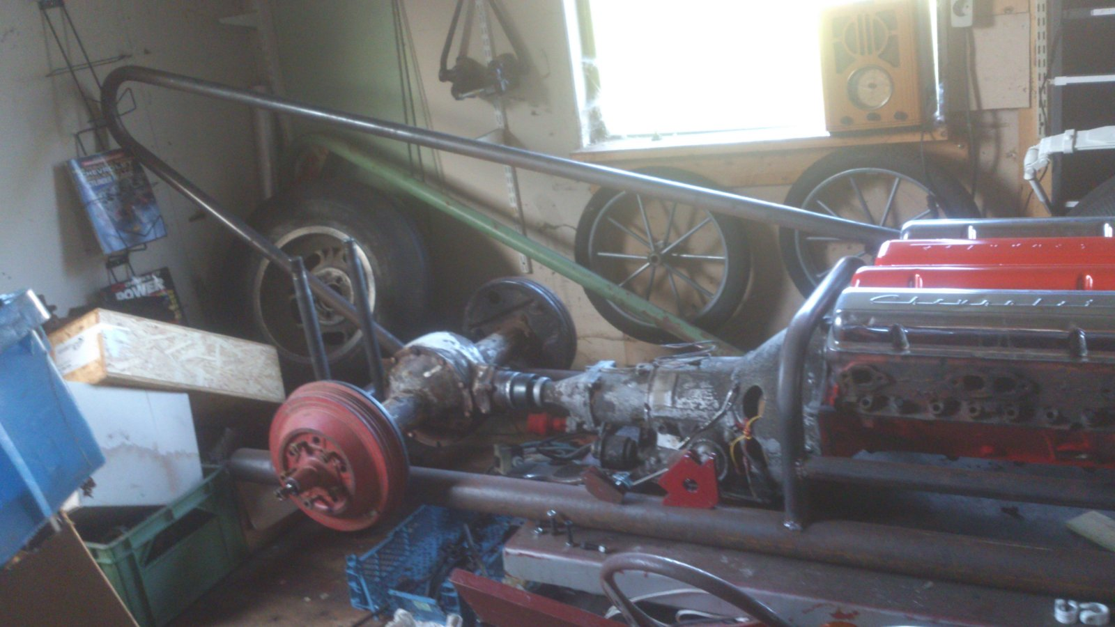 Projects - Front engine dragster-Chassis Research 1958 -