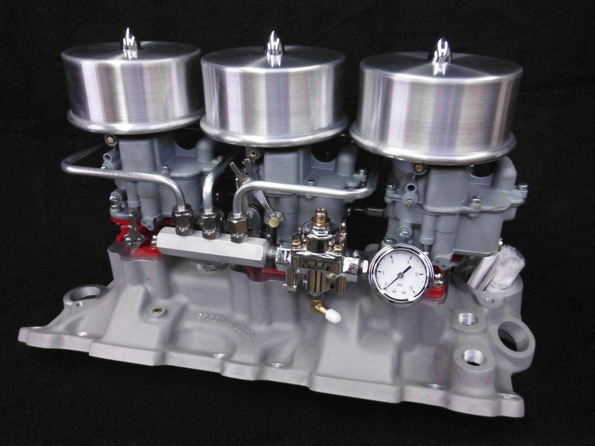 Offenhauser CHEVY TRI POWER INTAKE MANIFOLD Holley 94