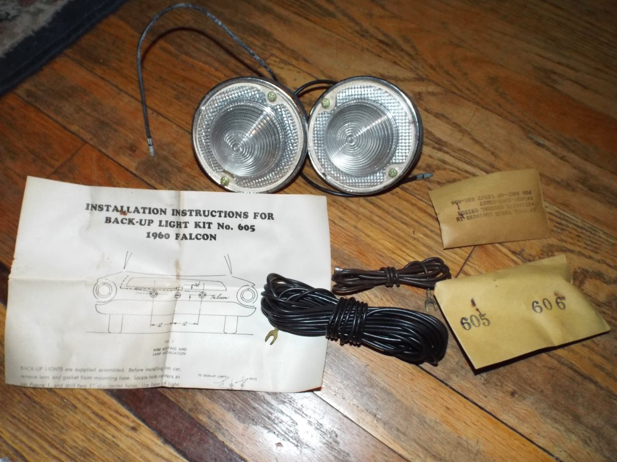 1960 - 61 FALCON Backup Lights NOS in the Box | The H A M B