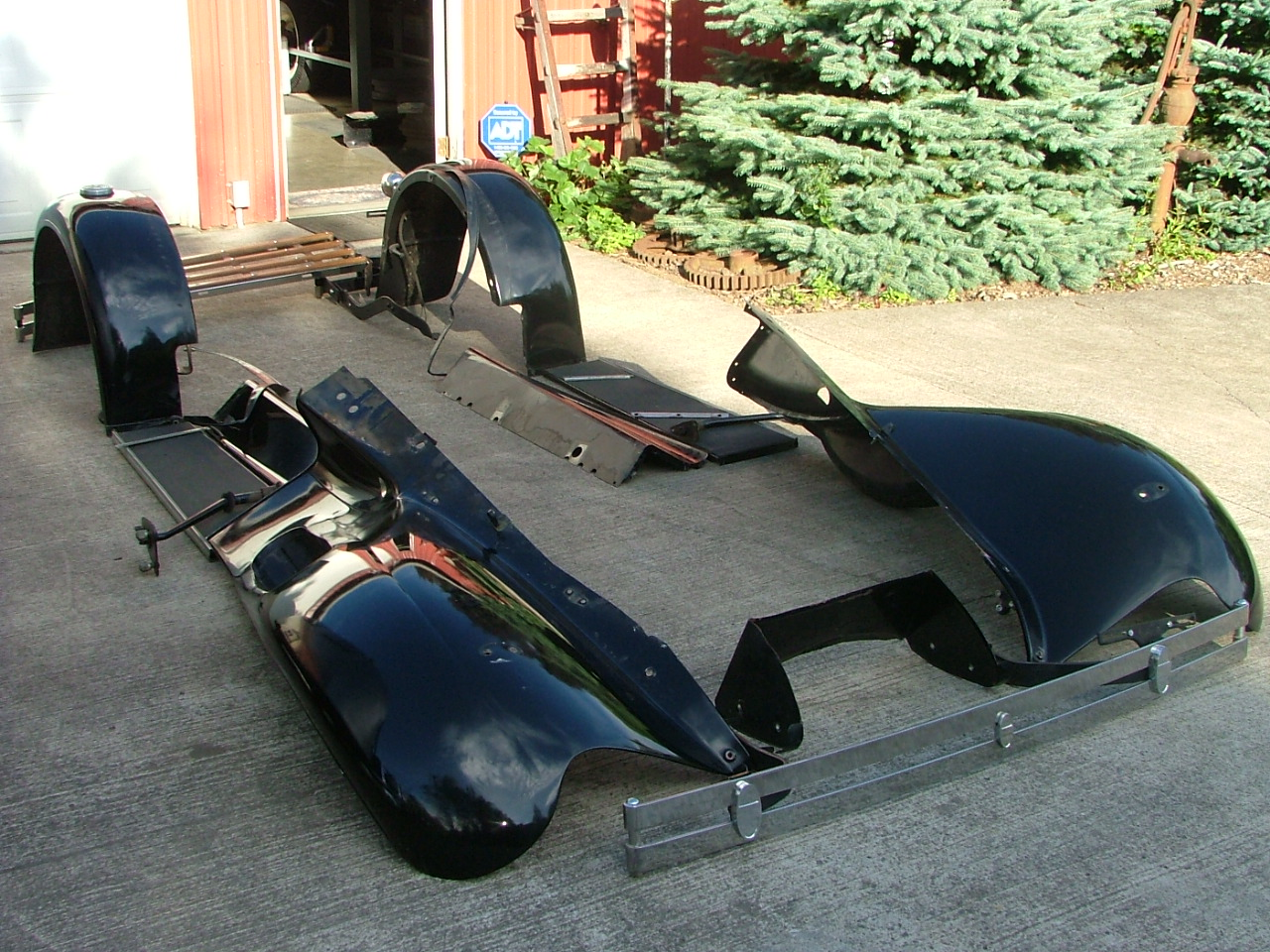 Ford Model A Fenders : Steel model a ford fenders aprons boards lights