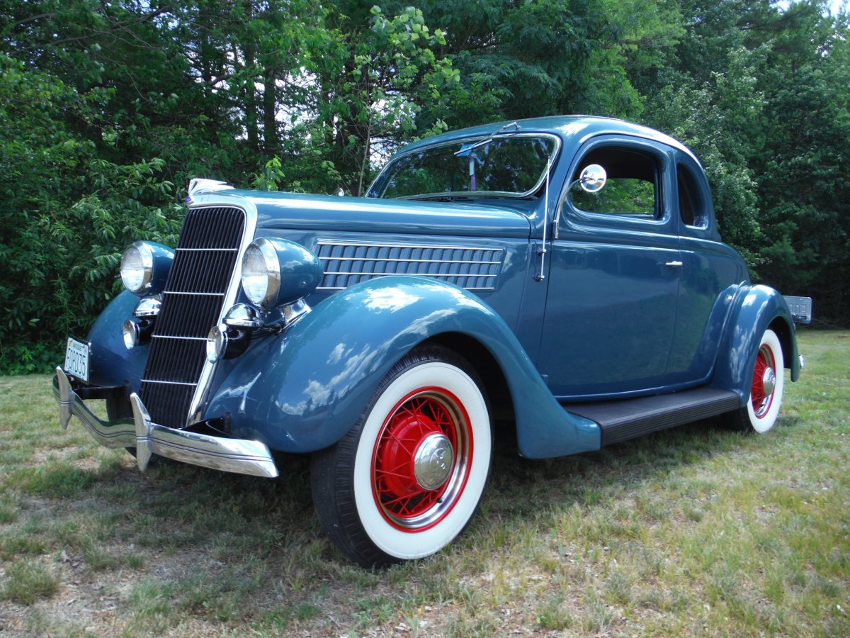 1935 ford deluxe 5 window coupe all steel the h a m b for 1935 ford 5 window coupe for sale