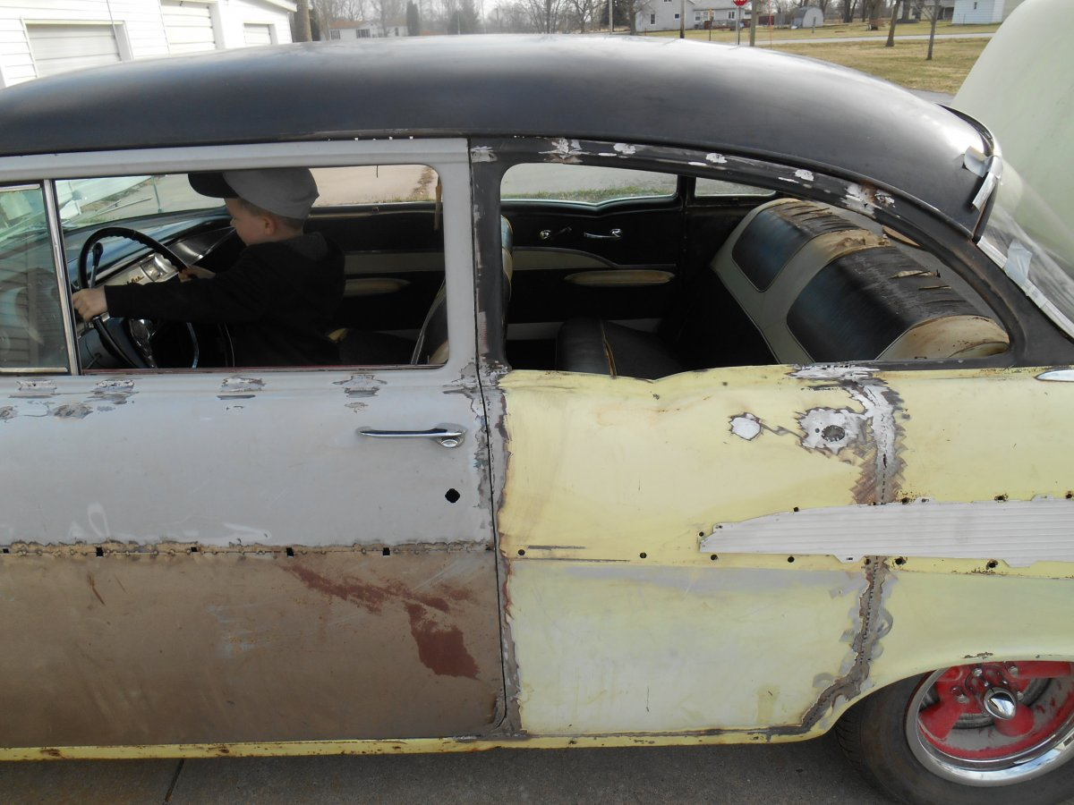 here is mine so far canu0027t help on 1/4 windows not that far yet. & Back by popular demand! 55 chevy 2-door CONVERSION MANUAL! | Page 6 ...