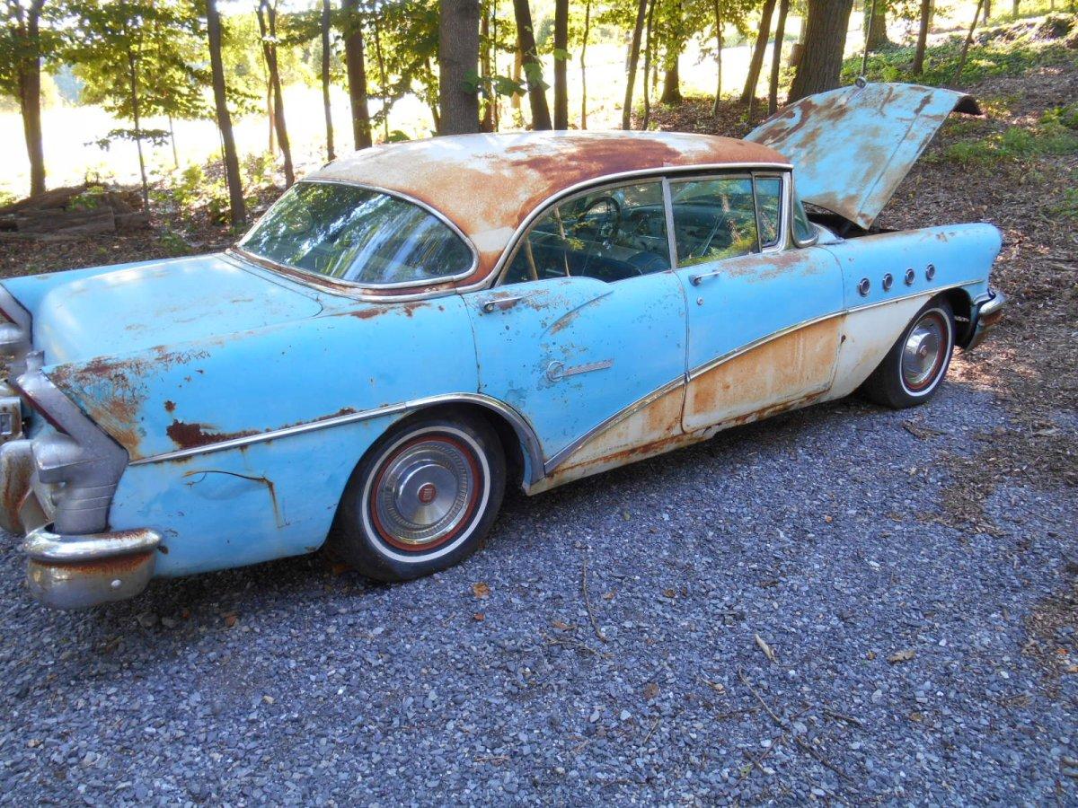 Sold 1955 buick century four door hardtop the h a m b for 1955 buick century 2 door