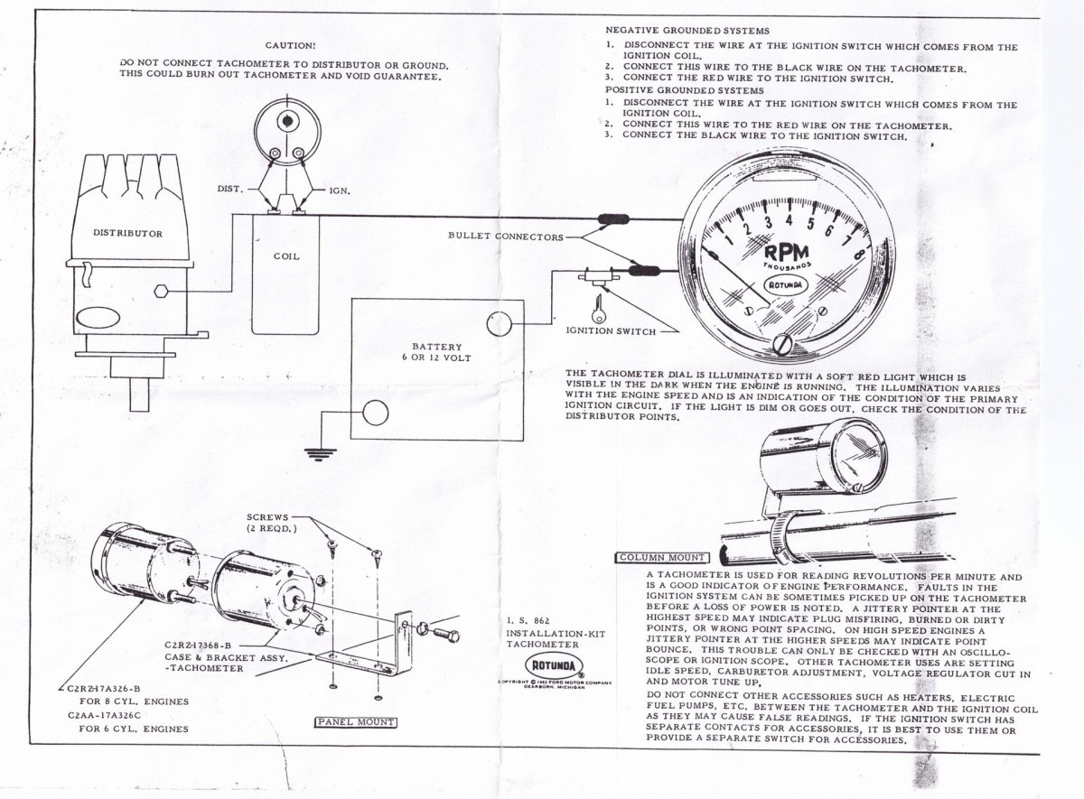 Faria Tachometer Wiring | Wiring Diagram on