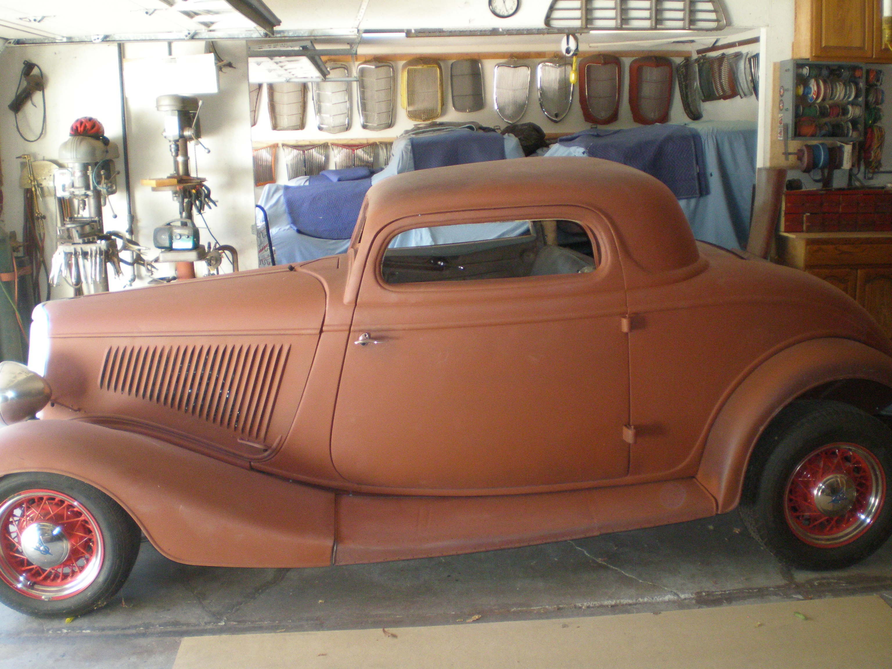 For sale 1934 ford 3 window coupe chopped top the h a for Windows 4 sale