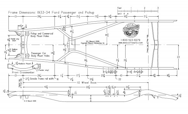 Technical - pics of 34 ford pickup stock frame | The H.A.M.B.