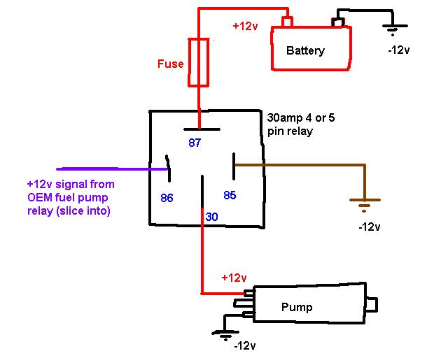 should i use a relay for fuel pump? the h a m b Holley Fuel Pump Wiring Diagram electric fuel pump wiring diagram