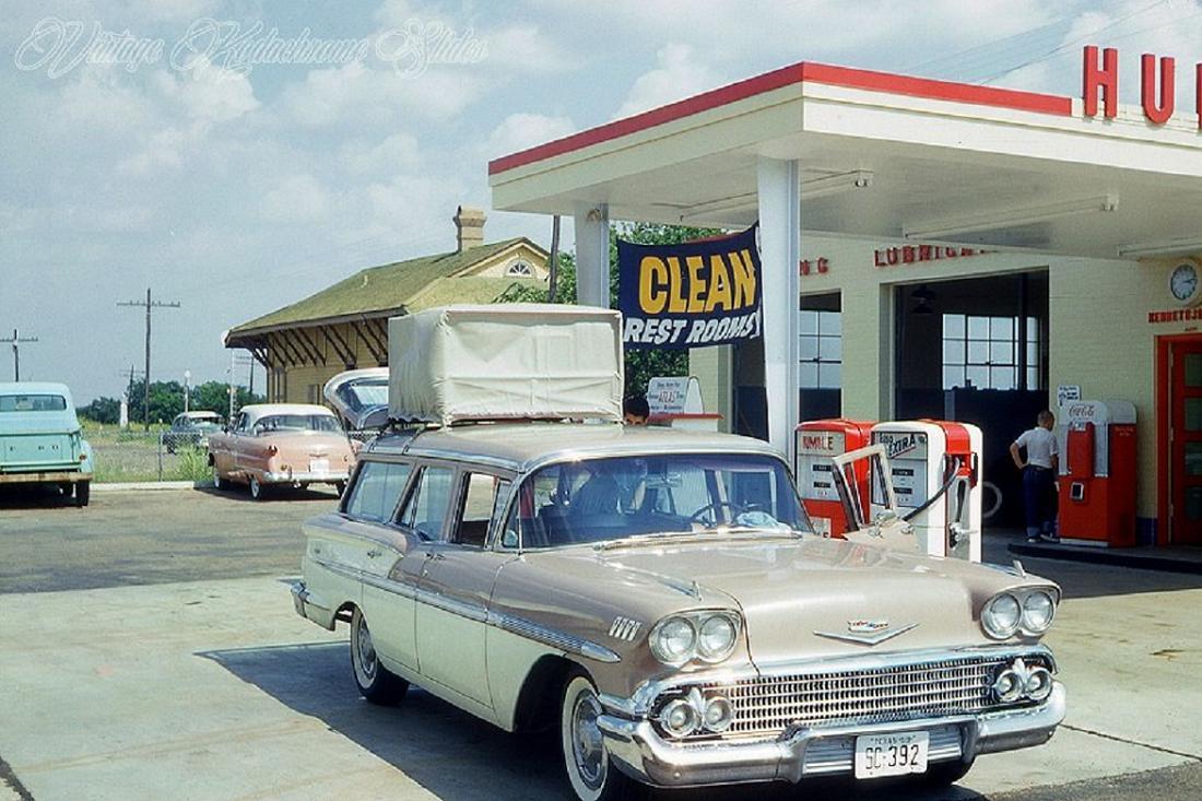 gas station 1958 Humble Chevy wagon.jpg