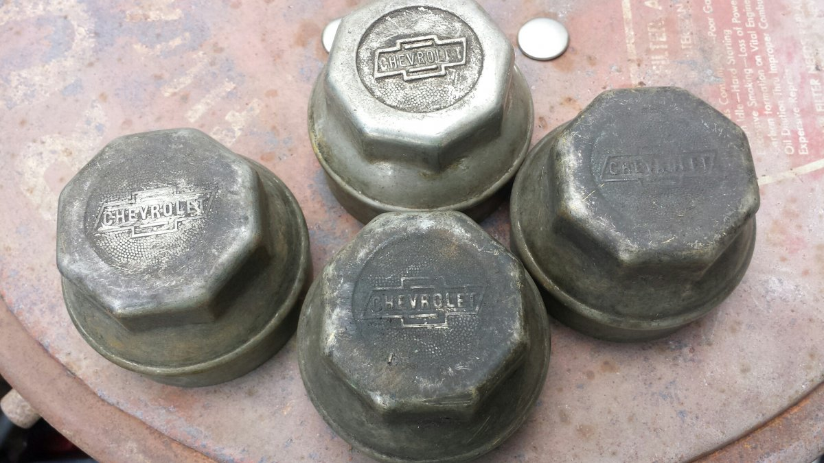Old Chevy Wheel Grease Caps : S vintage chevrolet grease caps covers the h a m b