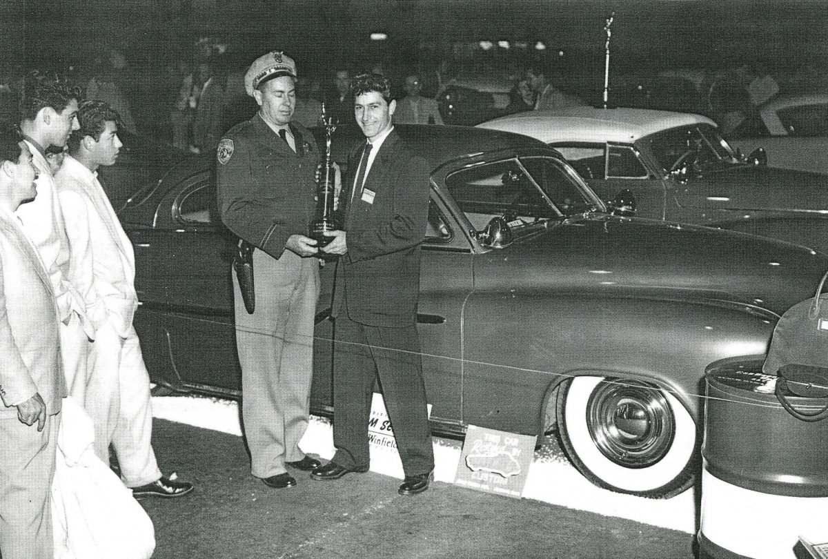 Gene Winfield' & his '50 Merc at the 1954 National Roadster Show.jpg