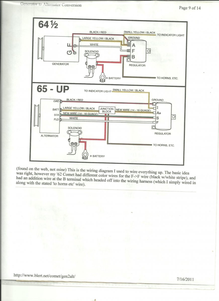 Technical Rebel Wire Harness Diagrams And Wiring Info Page 7 Diagram For Generator To Alternator Conversion Along With A Ford 3 Post Regulator 001