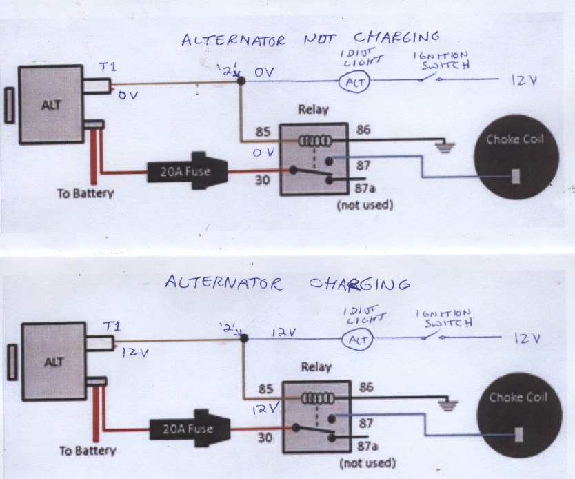 technical can someone explain this quadrajet choke wiring to me Dodge Electric Choke Wiring-Diagram gm alternator wiring 2 jpg