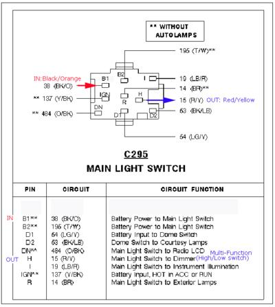 ford headlight switch wiring help needed the h a m b Chevy Headlight Switch Wiring Diagram at aneh.co