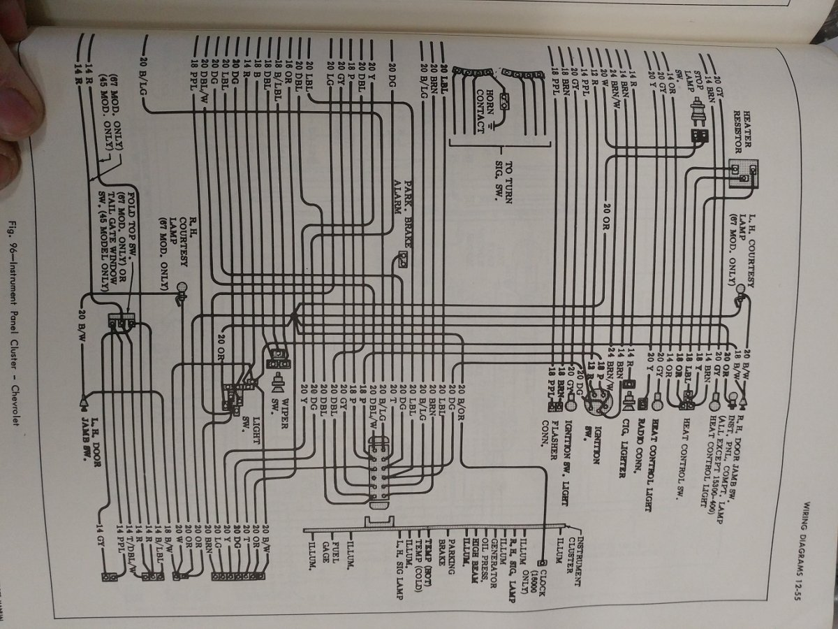 66 Chevy Truck Wire Diagrams Product Wiring 70 Pickup Diagram 1966 Dash The H A M B Rh Jalopyjournal Com 64