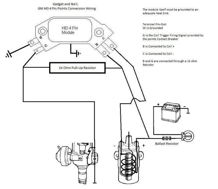 technical - how to trigger hei using stock points dist ... gm hei ignition wiring diagram gm hei module wiring diagram 1994