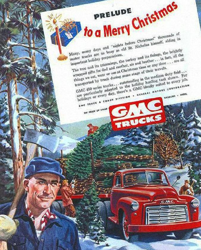 holiday Christmas car 1949 GMC Christmas AD.jpg