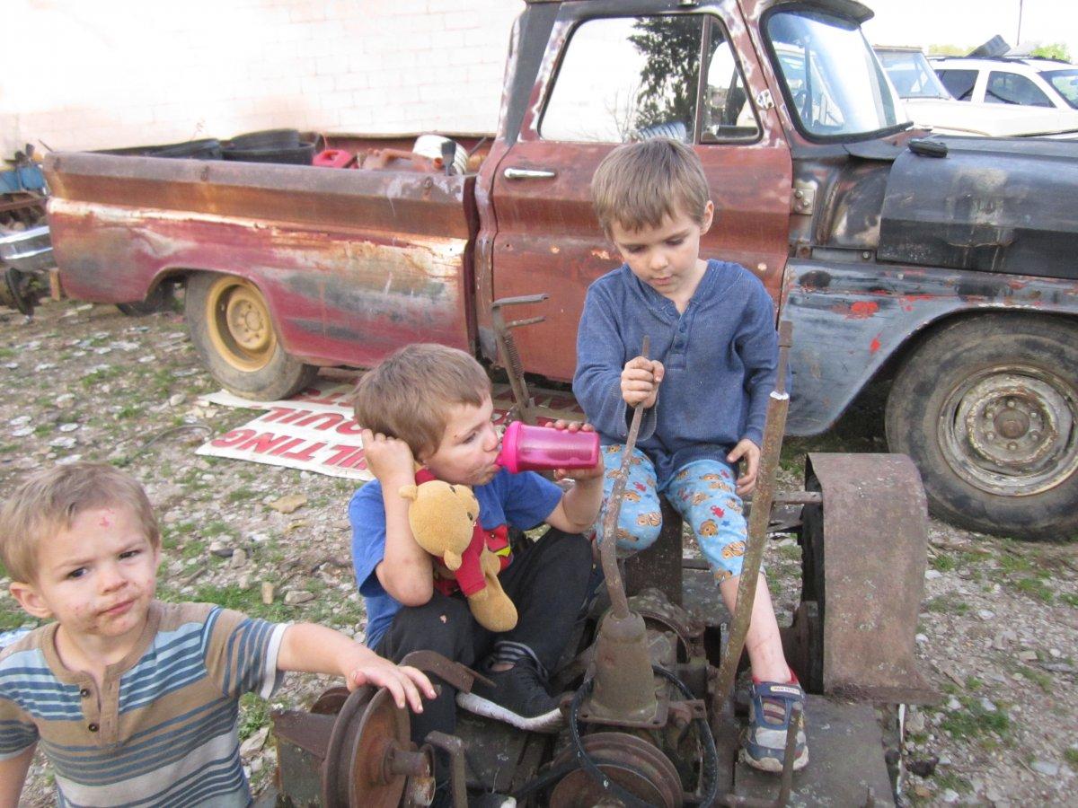Homebuilt Tractor and Boys 015.JPG