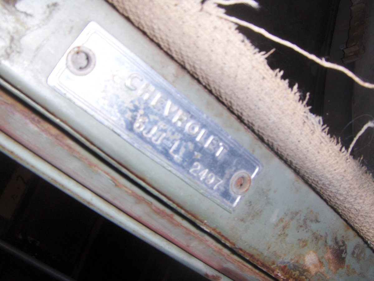 Technical 1951 Chevy Serial Number Location And
