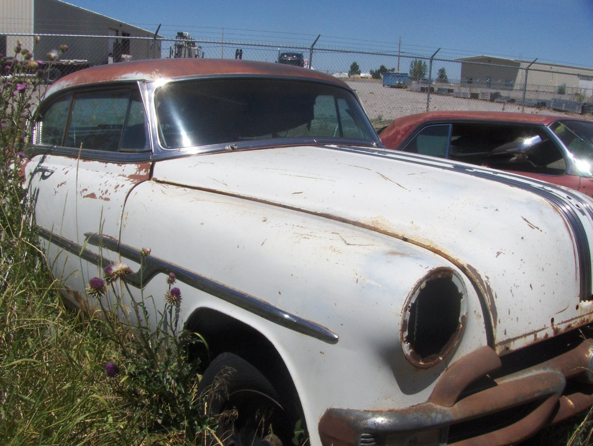 54 Chev Bel Air Sport Coupe & '53 Pontiac Catalina parts car