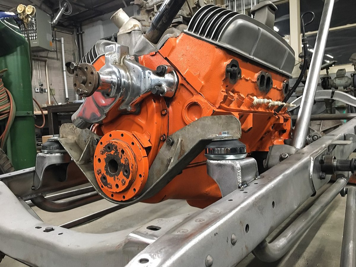 Hurst SBC Motor Mount in Model A Chassis - Ryan Hartman.jpg