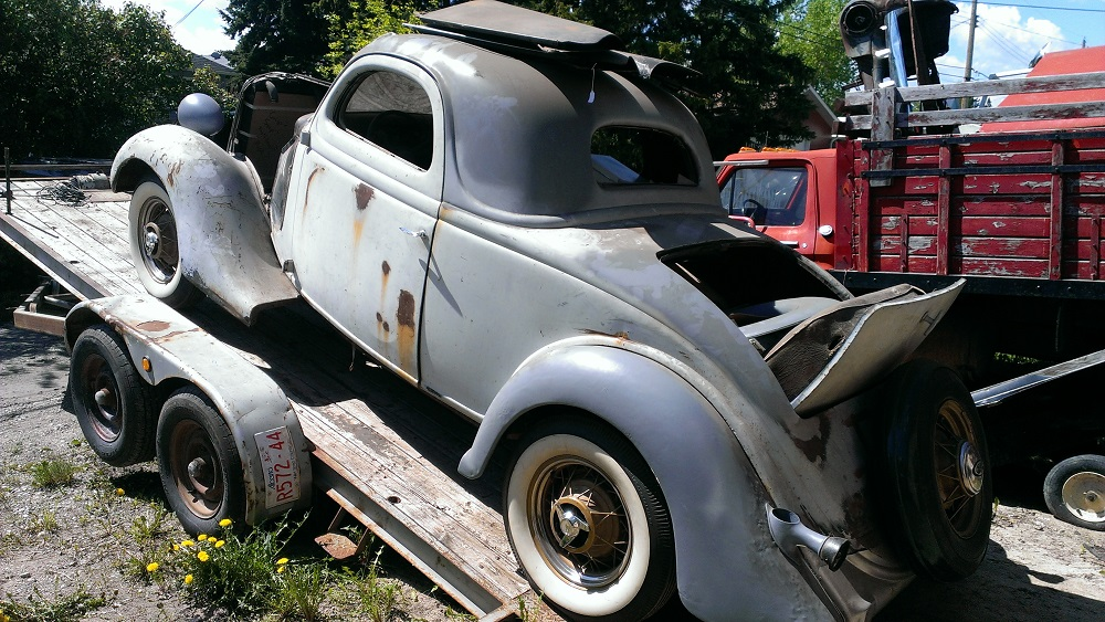 1935 ford 3 window coupe build my dream car at a snail 39 s for 1935 ford 3 window