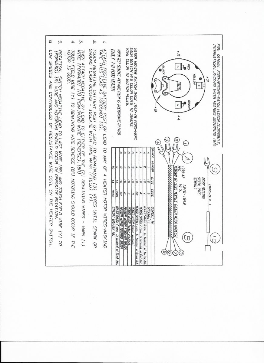 1940 Ford Heater Wiring Diagram Schematic Diagrams Car Technical Deluxe The H A M B