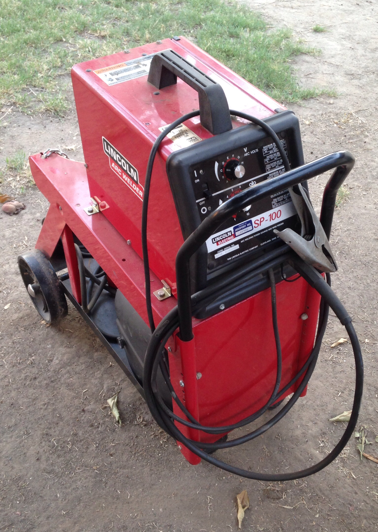 full matic welder mig size welders auction window lincoln in wire july item sold new