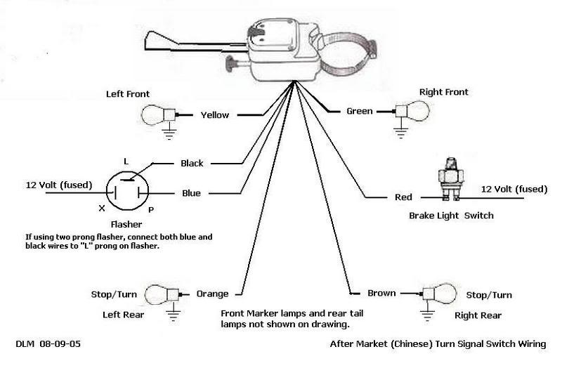 aftermarket turn signal switch wiring diagram aftermarket hot rods stop lites tail lites and turn signals the h a m b on aftermarket turn signal switch