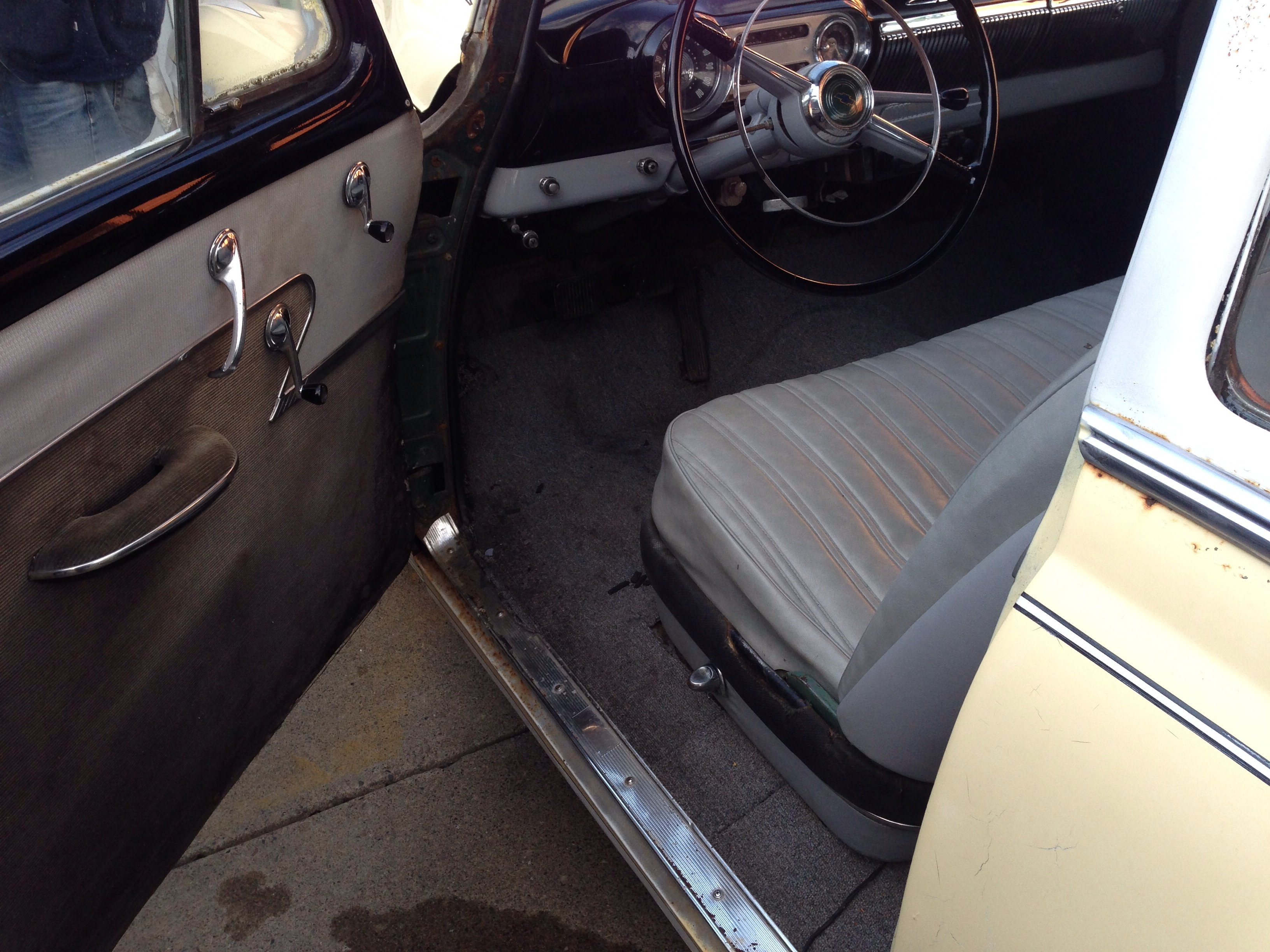 Car interior paint job - It Has A Vintage Scallop Paint Job This Car Has Tuck And Roll Interior With A Nice Black Dash And Headliner Call Jon P S Auto 607 785 6413