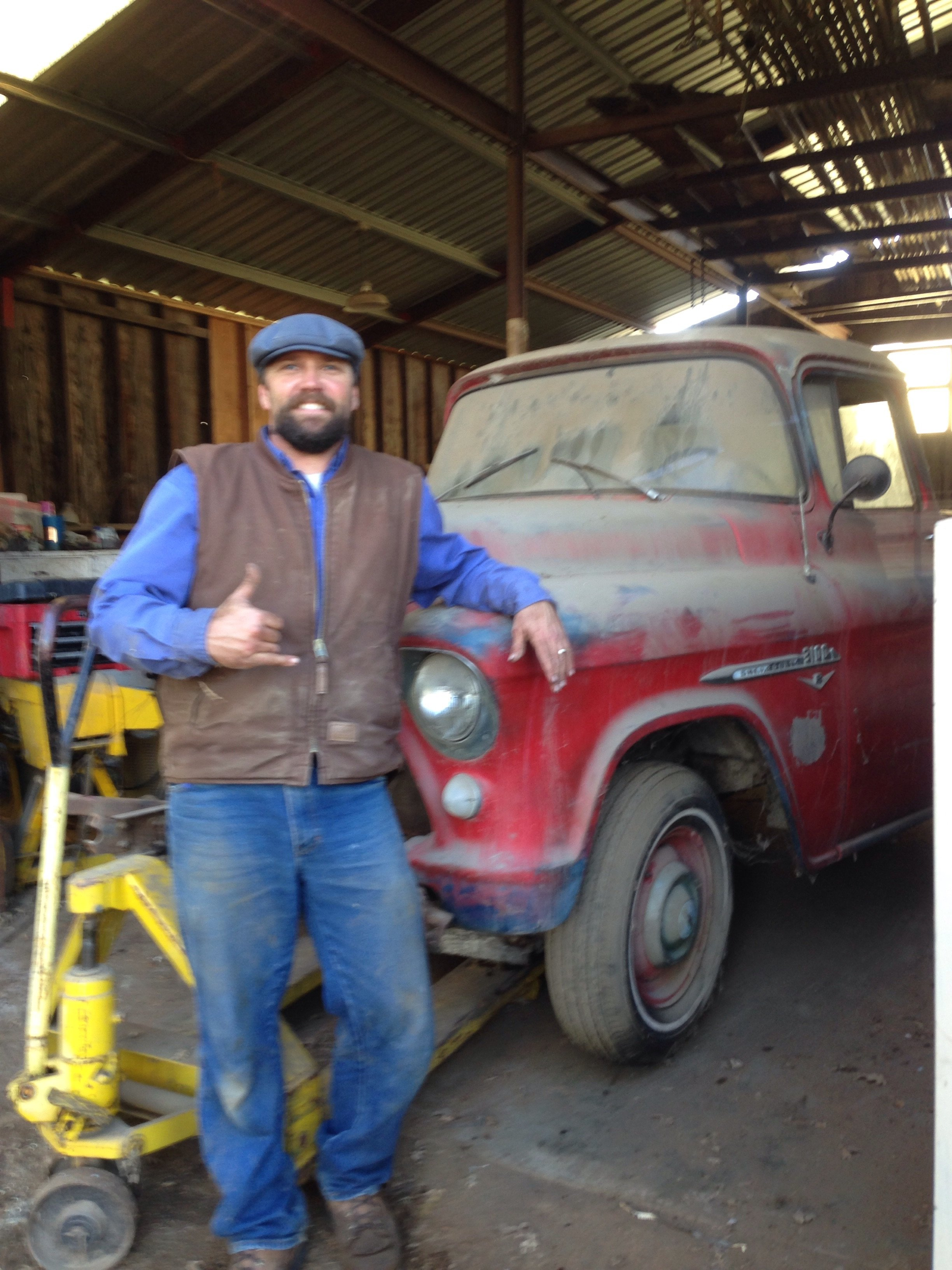 Projects - My barn find 1955 CHevy truck 265 hydromatic ...