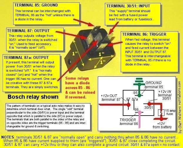 Hot Rods Need Electrical Assistance The HAMB - Circuit diagram of 5 pin relay