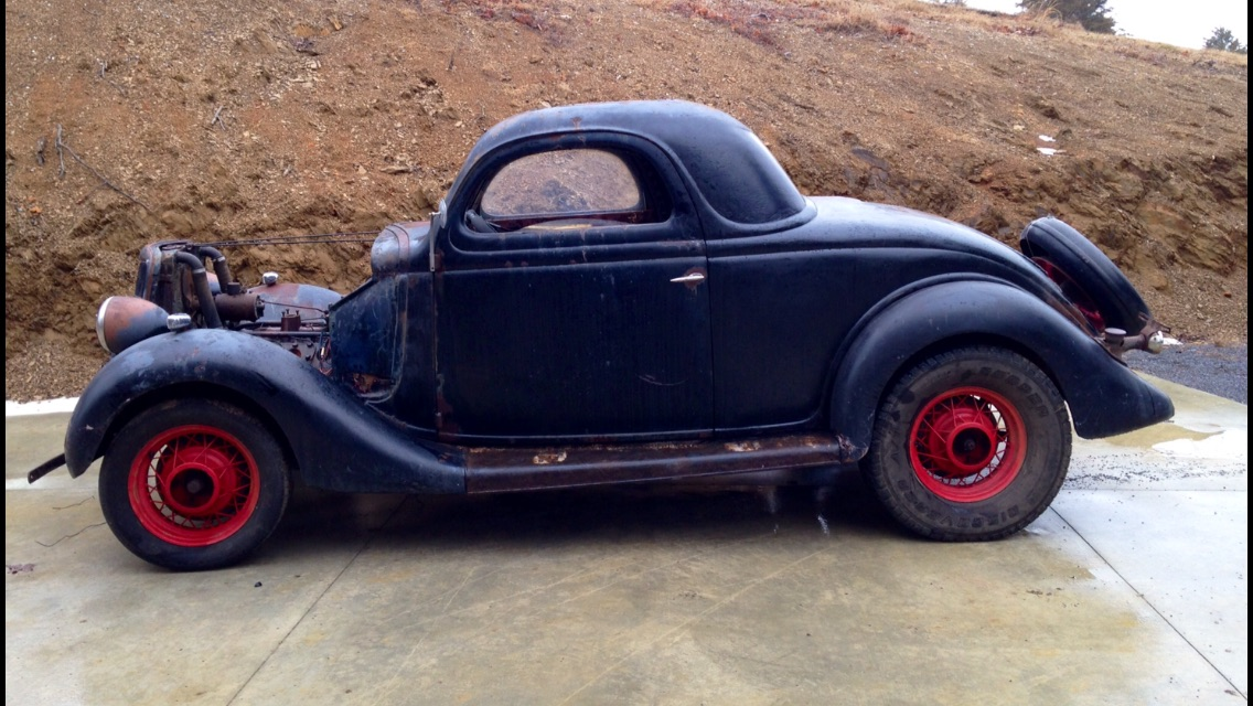 1935 ford 3 window coupe 15 500 the h a m b for 1935 ford 3 window