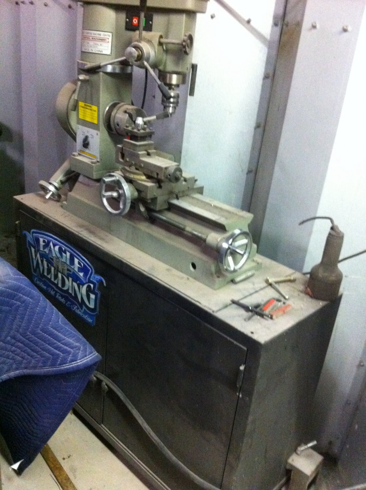 drill press metal lathe. i bought this only used it a handful of times works perfectly comes mounted on heavy duty cabinet pick up or you arraigne shipping weights about drill press metal lathe