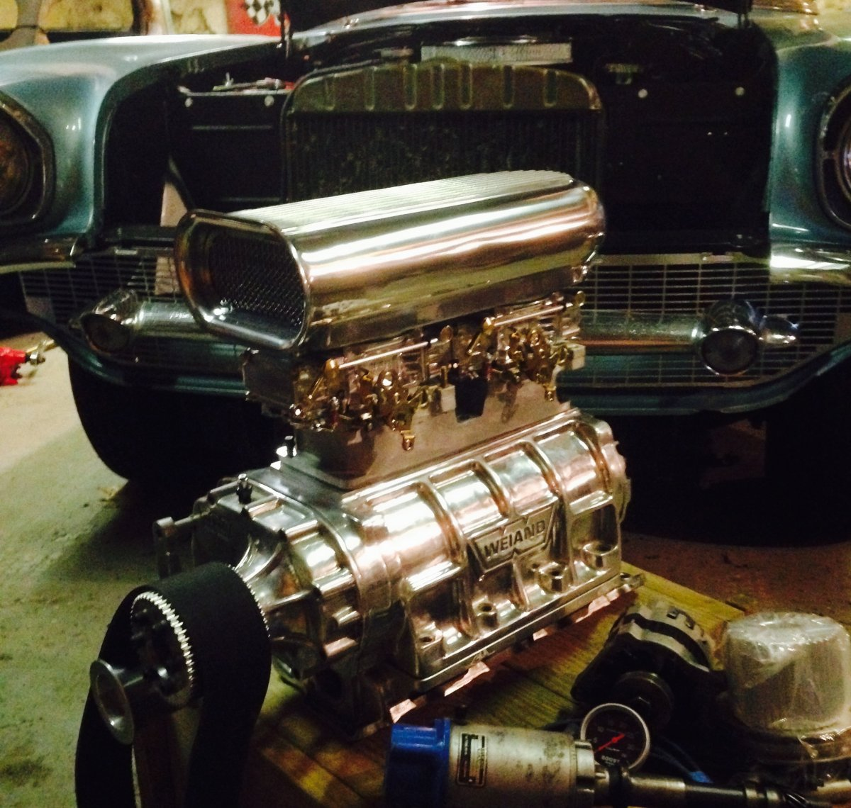 Blower Chevy 57: Hot Rods - Blown 57 Chevy